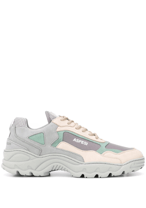 Filling Pieces oversized panelled sneakers - Grey