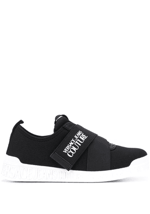 Versace Jeans Couture logo touch strap sneakers - Black