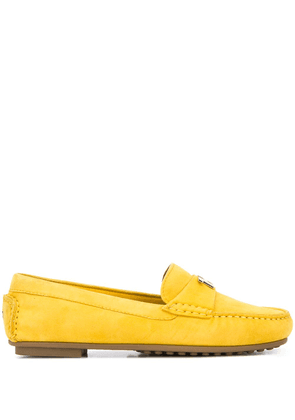 Tommy Hilfiger logo-plaque loafers - Yellow