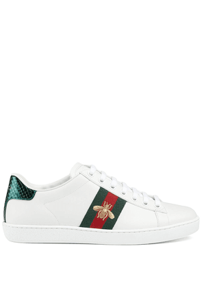 Gucci embroidered Ace sneakers - White