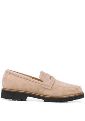 Peserico penny strap loafers - Brown