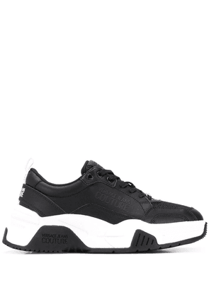 Versace Jeans Couture embossed logo chunky sneakers - Black