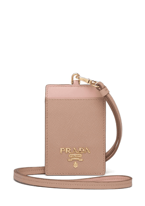 Prada logo plaque badge holder - PINK