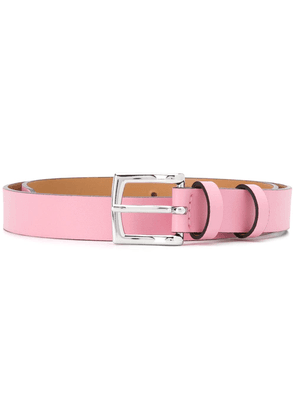 Semicouture slim leather belt - PINK