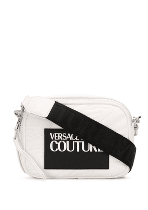 Versace Jeans Couture logo patch cross-body bag - White