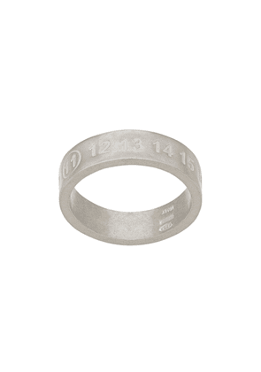 Maison Margiela engraved number ring - SILVER
