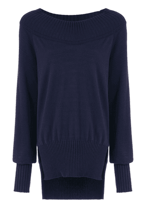 Gloria Coelho long knitted top - Blue