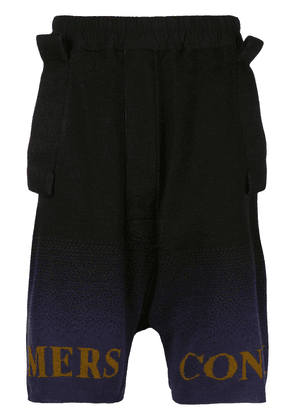 Bernhard Willhelm Mill knit shorts - Black