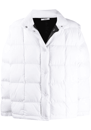 Zilver detachable-sleeves puffer jacket - White