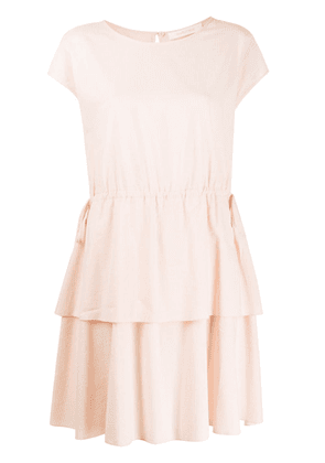 See by Chloé layered mini dress - PINK