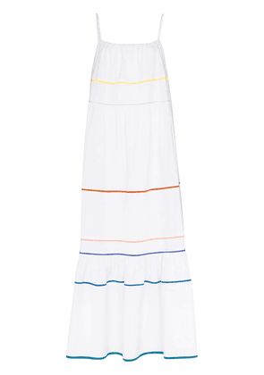 Araks Zoelle stripe-trim maxi dress - White