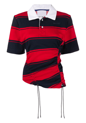 Koché striped short sleeve polo shirt - Blue