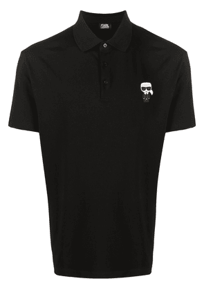Karl Lagerfeld Karl patch polo shirt - Black