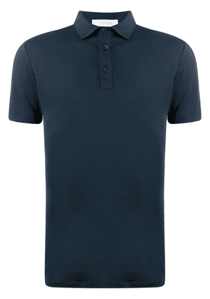 Cruciani slim fit shortsleeved polo shirt - Blue