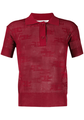 Courrèges slim-fit polo shirt - Red