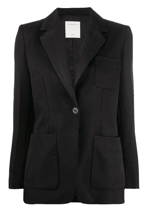 Sandro Paris fitted long sleeve blazer - Black