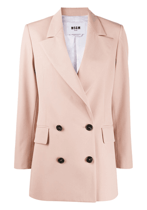 MSGM oversized double-breasted blazer - PINK