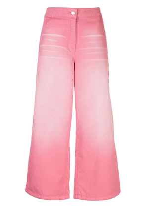 Kenzo faded cropped jeans - PINK