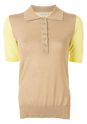 Lee Mathews colour-block polo top - Brown