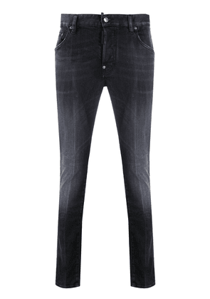 Dsquared2 distressed mid-rise skinny jeans - Black