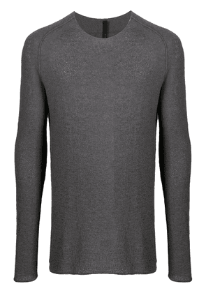 Forme D'expression perforated crew neck jumper - Grey