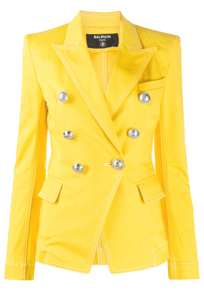 Balmain structured double-breasted blazer - Yellow