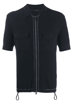 Ermenegildo Zegna zipped polo shirt - Blue