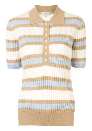 Lee Mathews ribbed stripe polo top - Multicolour