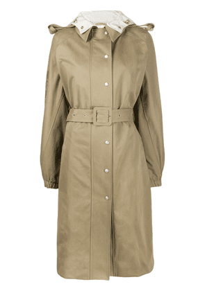Courrèges belted trench coat - NEUTRALS