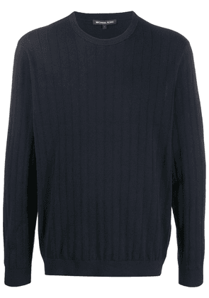 Michael Kors ribbed crew neck sweater - Blue