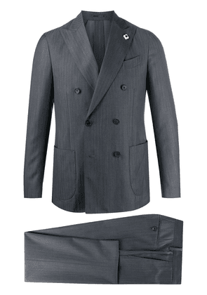Lardini two-piece wool suit - NEUTRALS