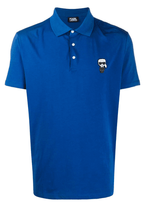 Karl Lagerfeld Karl patch polo shirt - Blue