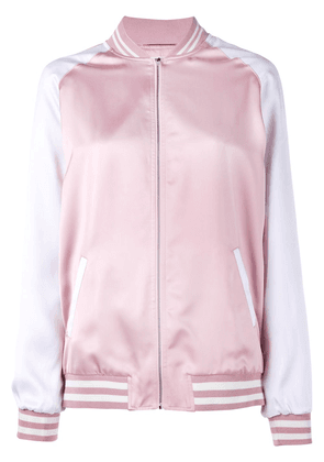 Saint Laurent Over-Sized Classic Teddy Jacket - PINK