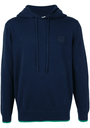 Kenzo Tiger patch hoodie - Blue
