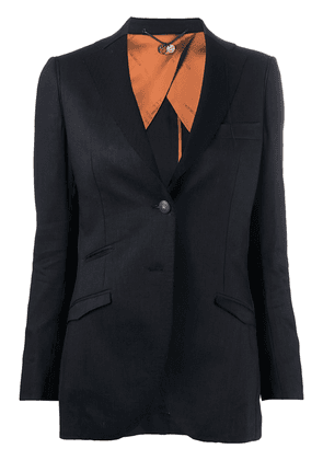 Maurizio Miri Brunilde single breasted blazer - Black