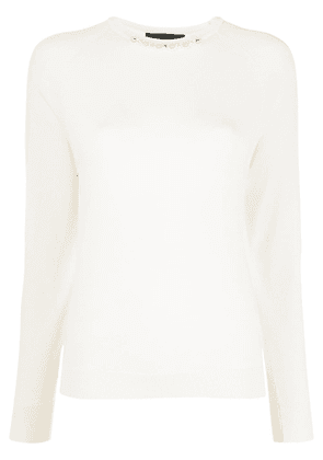 Simone Rocha stud and pearl embellished jumper - White