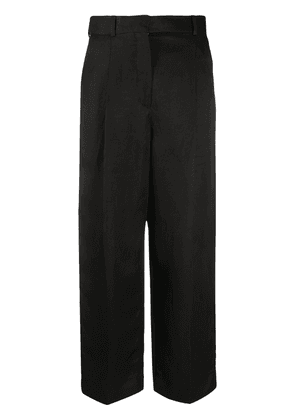 Sandro Paris straight fit cropped trousers - Black