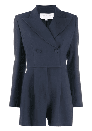 Michael Kors Collection double-breasted playsuit - Blue