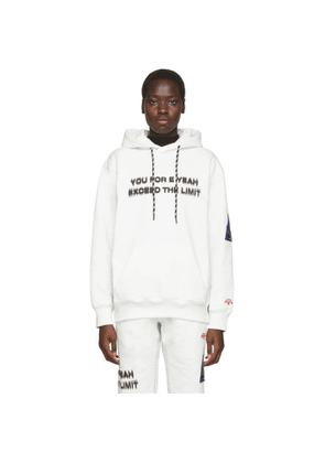 adidas Originals by Alexander Wang White You For E Yeah Exceed The Limit Hoodie