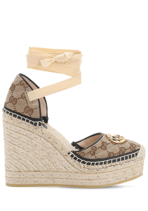 120mm Pilar Quilted Canvas Espadrilles