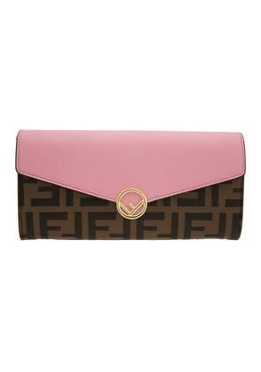 Fendi Black and Brown Forever Fendi Wallet