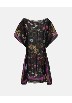 Stella McCartney Black Trippy Floral Kaftan, Women's, Size OneSize