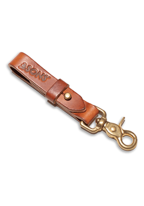 &SONS Trading Co - Tan Leather Key Fob