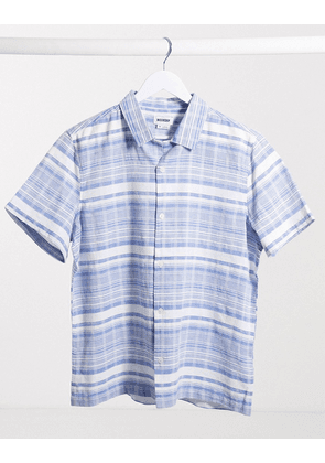 Weekday Coffee striped shirt in light blue