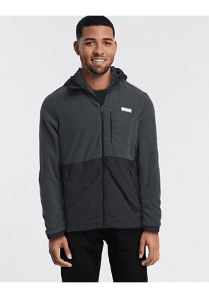 Jack & Jones fleece panel jacket-Black