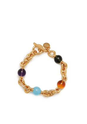 Mulberry Grace Bracelet in Gold and Multicolour Brass, Strass and Resin