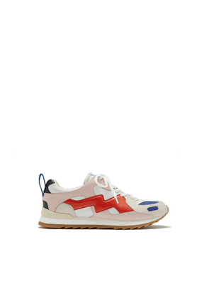 Mulberry MY-1 Lace-up Sneaker in White, Powder Pink and Red Smooth Calfskin