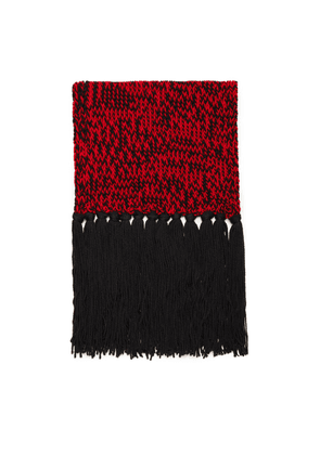 Mulberry Chunky Fleck Knitted Scarf in Scarlet Wool