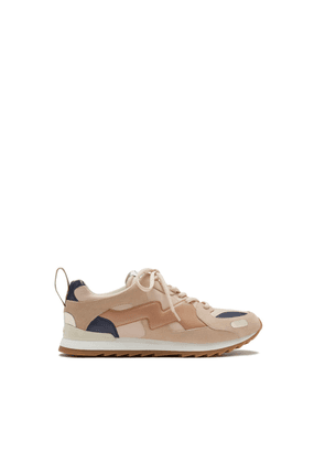 Mulberry MY-1 Lace-up Sneaker in Nude Smooth Calfskin