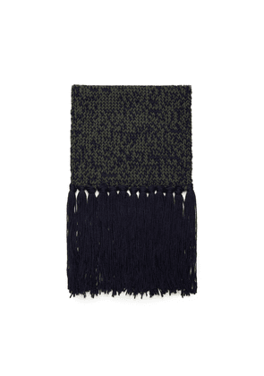 Mulberry Chunky Fleck Knitted Scarf in Mulberry Green Wool